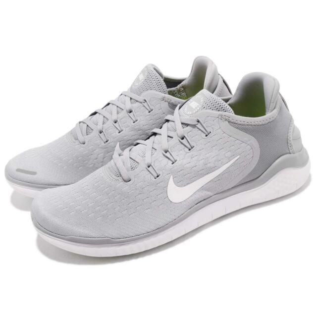 1796ec76814f Nike Free RN 2018 Grey White Run Barefoot Mens Running Shoes Sneakers  942836-003