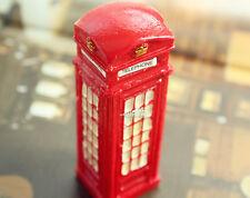 Classic UK Red Telephone Box Booth Tourist Souvenir 3D Resin Fridge Magnet Craft
