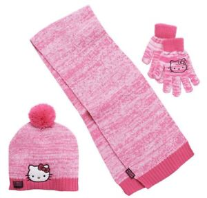 d278f58e1b693 Image is loading NEW-girls-HELLO-KITTY-3-pc-HAT-GLOVES-