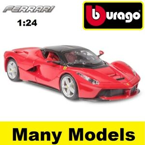 Bburago-Ferrari-Race-amp-Play-1-24-escala-Diecast-Modelo-Coche-Regalo-Juguete-Muchos-Modelos