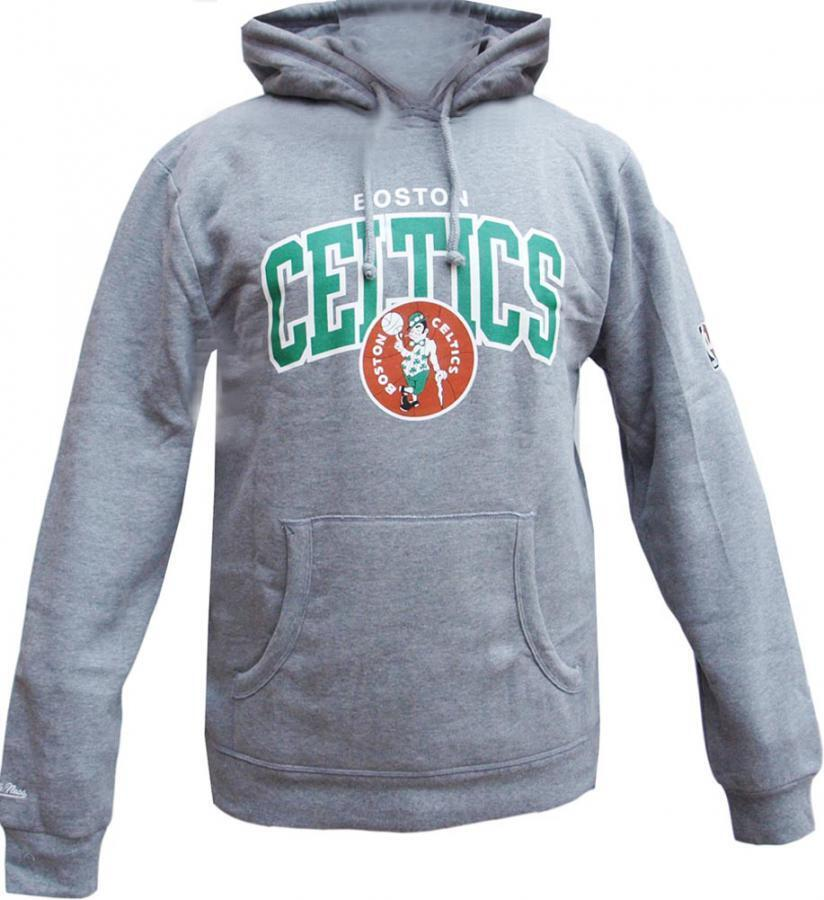 Mitchell & Ness Boston Celtics HWC Arch Logo Hoody grau Hoodie Sweater Mens