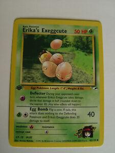 Gym Heroes Set UN-COMMON Erika/'s Exeggcute 43//132 Pokemon 1st Ed NM//M
