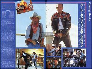 MICKEY-ROURKE-DON-JOHNSON-Harley-Davidson-amp-1992-Japan-Clippings-2-Sheets-QC-y
