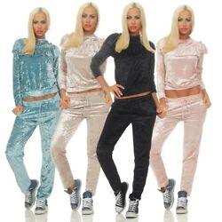 4142 Cooler Damen Hosenanzug Freizeitanzug Langarmshirt Joggpants Pullover Hose
