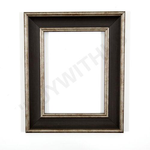 Shabby chic cadre photo poster cadre vintage noir blanc noyer cadre photo