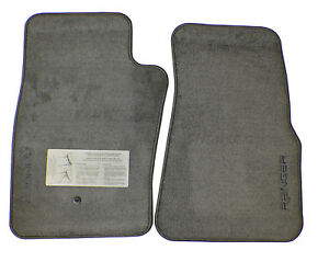 New Floor Mats Custom Logo Pickuptruck Medium Graphite