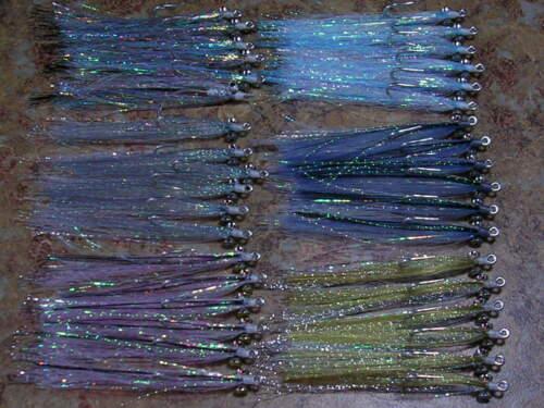 6 diff BAITFISH Polarflash Clouser Minnows saltwater freshwater flies
