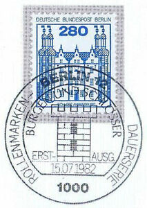 Berlin 1982: Château Ahrensburg! B&s Nº 676 Avec Ersttags-cachet Spécial! 1 A 1906-rstempel! 1a 1906fr-fr Afficher Le Titre D'origine