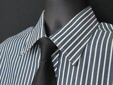 "Ted Baker Men's Dress Shirt,100% Cotton, Blue/Gray & White Stripe, L/S,*16 1/4"""