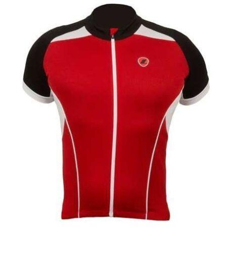Lusso Homme Linea à manches courtes maillot de cyclisme Rouge RRP £ 39.99 S-XXL
