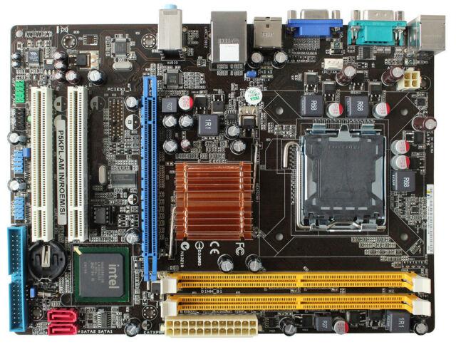 For ASUS P5KPL-AM IN/ROEM/SI Motherboard Intel G31 LGA775 DDR2 SATAII Intel