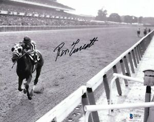 Ron-Turcotte-Signed-8x10-Secretariat-1973-Belmont-Stakes-Horse-Racing-Photo-BAS