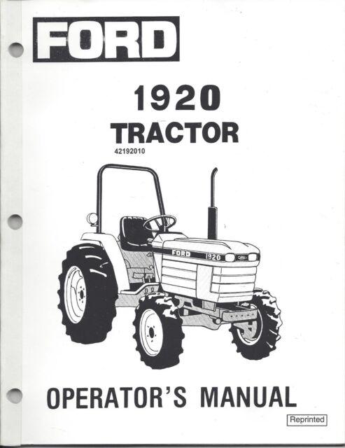 ford holland 1920 tractor operator manual 42192010 ebay rh ebay com ford tractor operators manuals free ford 3000 tractor operator manual