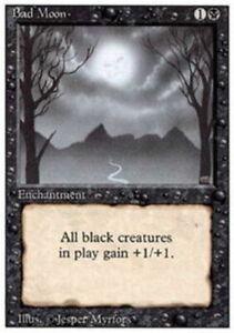 MTG magic cards 1x x1 Moderate Play English Bad Moon 3rd Edition Revised