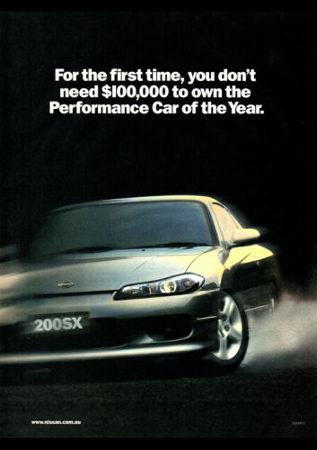 "2001 NISSAN 200SX S15 A4 CANVAS PRINT POSTER 11.7/""x8.3/"""