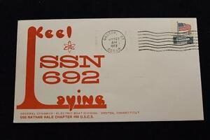 Navale-Cover-1973-Macchina-Annullo-Postale-Keel-Posa-Uss-Omaha-SSN-692-3483