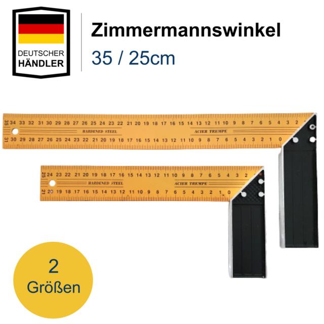 Anschlagwinkel 350 mm Zimmermannswinkel Schreinerwinkel Messwinkel 90° Winkel
