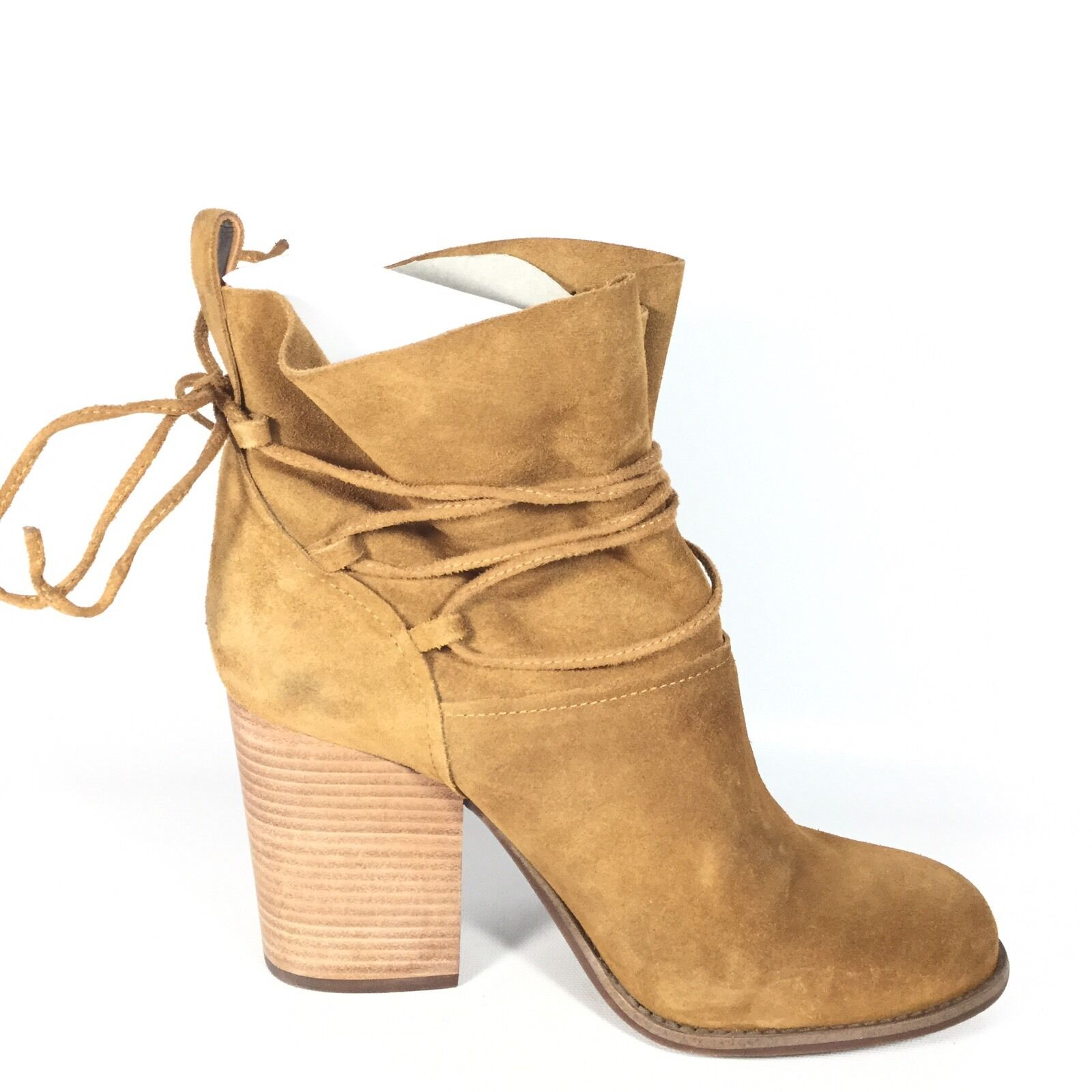 Jessica Simpson Satu Women's Size 9.5 M M M Brown Leather Heel Ankle Boots. 8e1ca8