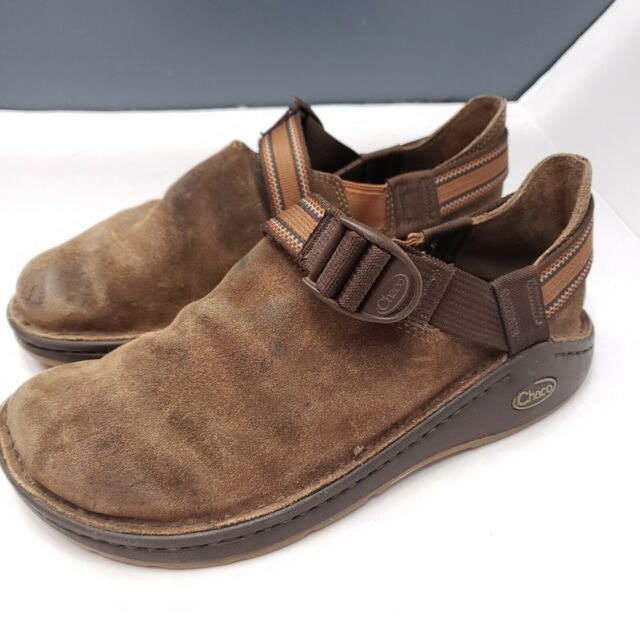 Chaco Pedshed Gunnison Mens Size 9 Vibram Sole Brown Suede  Slip-on Outdoor Shoe