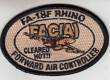 FA-18F RHINO FAC(A) DESERT SHOULDER PATCH