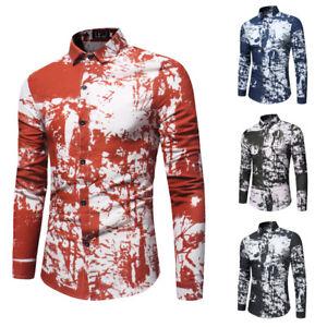 2019-camisas-de-manga-larga-para-hombre-informal-Hawai-Flor-Floral-Vestido-Camisa-Prendas-para-el