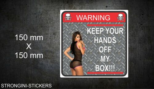 "Tool Box Sticker Warning sticker decal toolbox funny  6/"" x 6/"" Laminated"