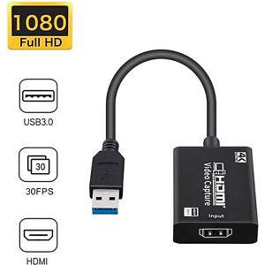 HD 1080P 4K HDMI vers USB 3.0 Carte de capture vidéo Dongle Pour Live Streaming Game