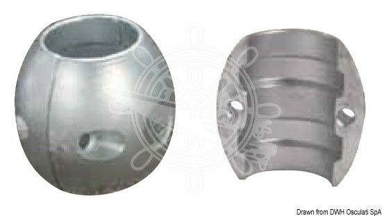OSCULATI Wellenanode nußförmig 63 mm mm 63 (2 Zoll 1/2) 0bfc4b