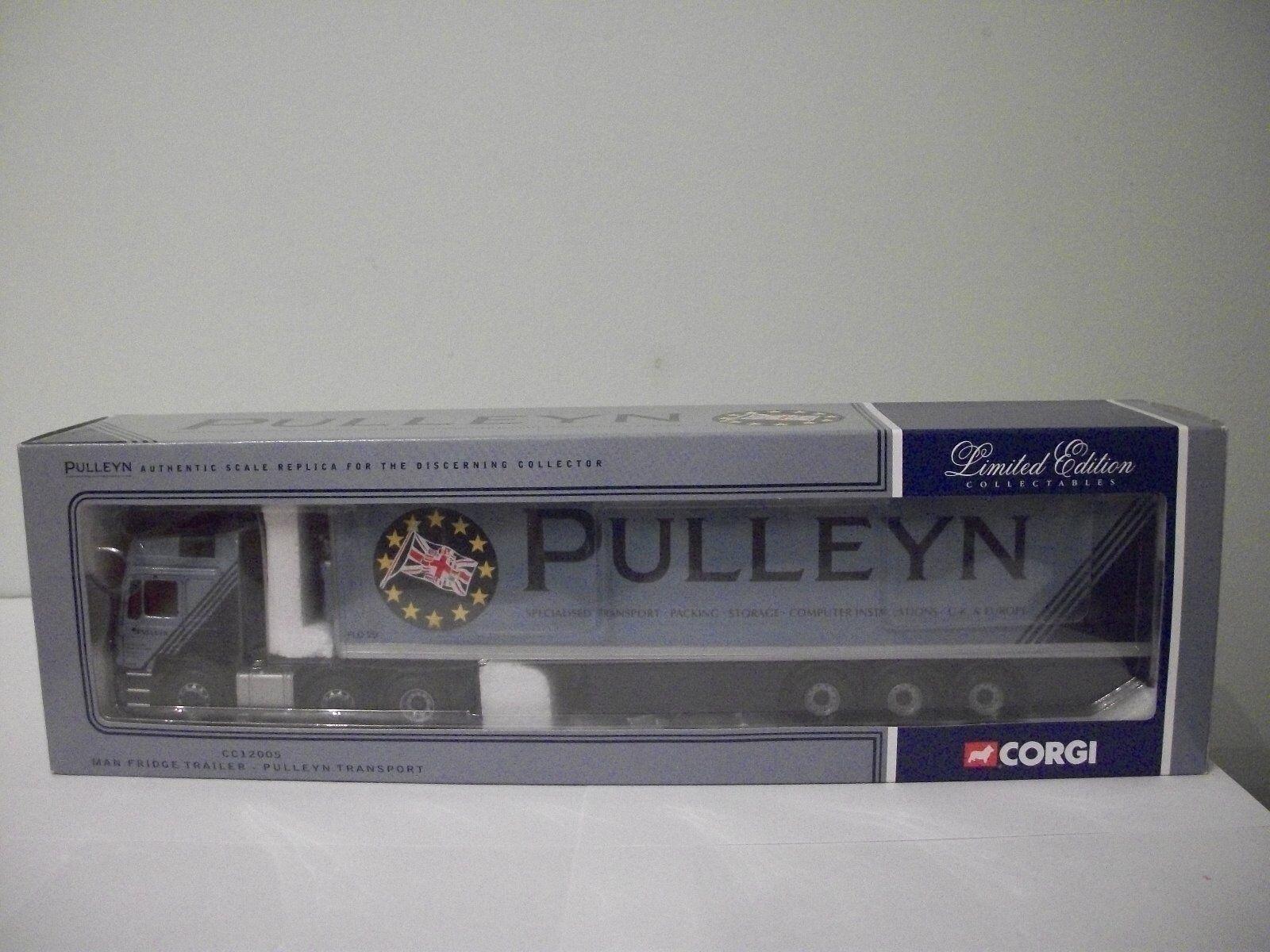 Corgi CC12005 1 50 Scale MAN Fridge Trailer Diecast Model – Pulleyn (MIB)