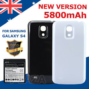 best website d7d62 4e645 Details about Replacement extended 5800mAh Battery with Back Cover for  Samsung Galaxy S4 i9500