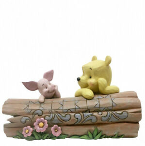 Disney Traditions Pooh and Piglet on a Log Figurine 6005964 Brand New & Boxed