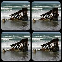 Peter Iredale Ship Wreck 1/4 Thick Coaster Set Of 4