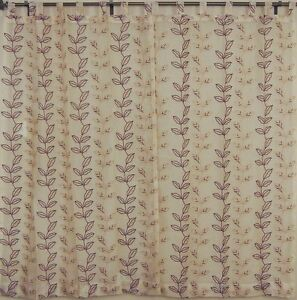 Embroidered-Sheer-Indian-Curtains-2-Lemon-Chiffon-Organza-Window-Treatments-90in