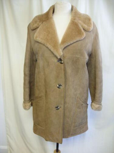 Cond Brown 33 Ladies Coat Length Sheepskin 8324 Meget God Bust Morlands 40 q416x18T