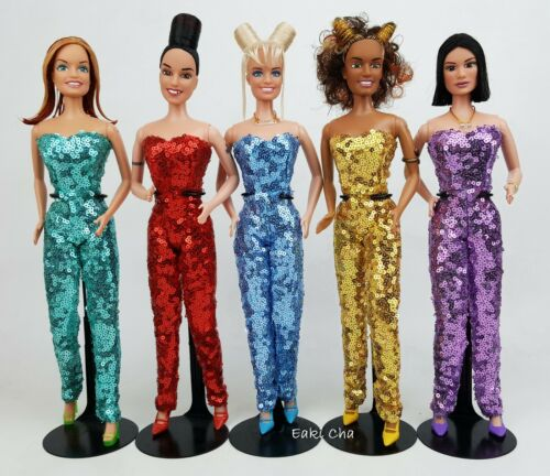 Gold Green Red Blue Purple Jumpsuit Outfit For Silkstone Fashion Royalty Doll FR