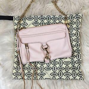 8d727c1f2fa Details about Rebecca Minkoff Mini Mac Chain Strap Crossbody Bag Light Pink  / Gold