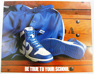 size 40 be0d5 3ff02 Image is loading 1985-NIKE-Dunk-Basketball-Poster-Be-True-To-