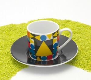 Koenitz-Porzellan-Espresso-Tasse-amp-Untertasse-Bauhaus-Dreieck-by-Typoly-85ml