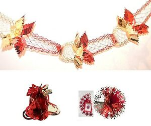 image is loading red gold silver blue white foil garland hanging - Christmas Hanging Decorations