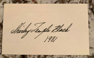 SHIRLEY-TEMPLE-HAND-SIGNED-3X5-INDEX-CARD-Signed-PSA-PSA-DNA-1981