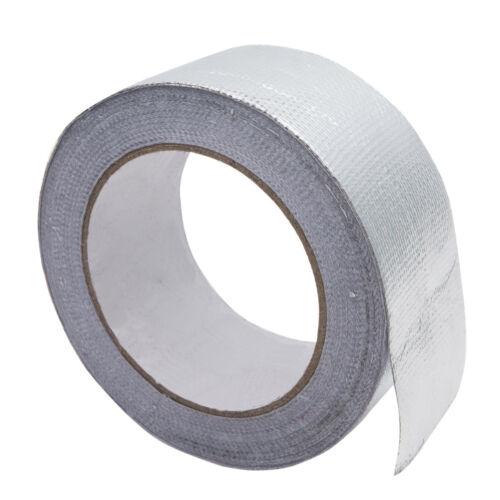 25m High Heat Insulation Aluminium Wrap Exhaust Header Pipe Tape Cloth Silver UK