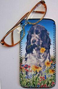 COCKER-SPANIEL-ROAN-DOG-PAINTING-PRINT-GLASSES-CASE-POUCH-SANDRA-COEN-ARTIST