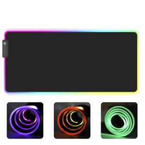 RGB-bunte-LED-Beleuchtung-Gaming-Mouse-Pad-Matte-fuer-PC-LaZBDE