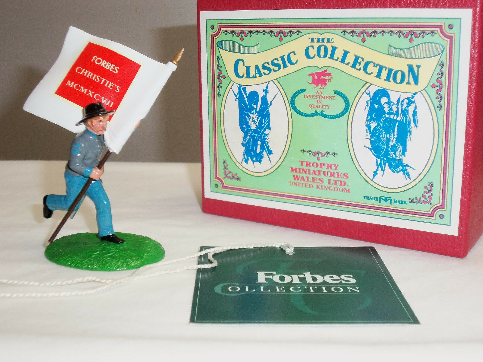 TROPHY MINIATURES FORBES CHRISTIES COMMERATIVE CSA STANDARD BEARER TOY SOLDIER