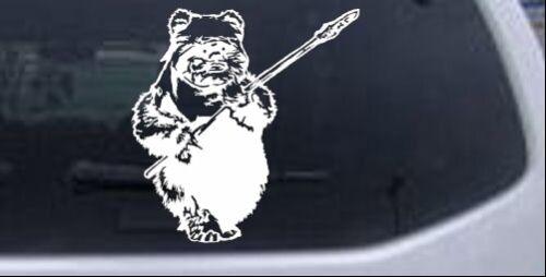 Star Wars Ewok Wicket Car or Truck Window Laptop Decal Sticker