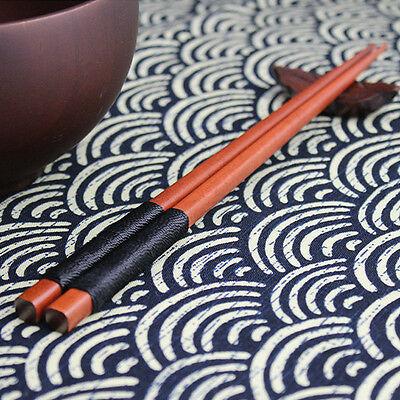 Black 1 Pairs Japanese Natural Iron Wood Chopsticks Gift Cooking Durable