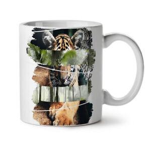Tiger Cat Beast Animal NEW White Tea Coffee Mug 11 oz   Wellcoda