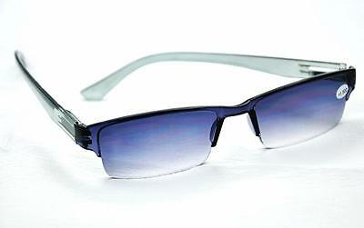 MT60  Grey Spring Hinged Acetate GREAT VALUE Reading Sunglasses+1.0+1.5+2.0+2.5