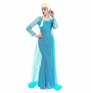 Donna-Carnevale-Costume-Frozen-Dress-Elsa-Vestito-adulto12-y