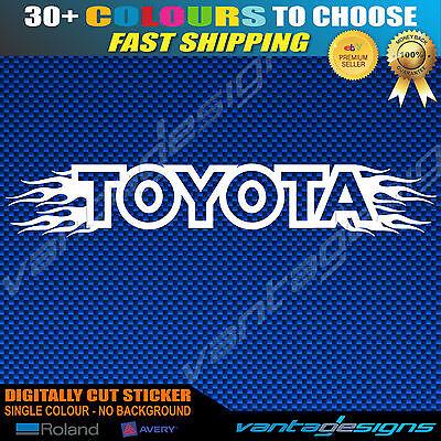 'TOYOTA' Flames Car Windscreen Sticker Decal